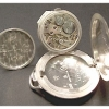 Rare Silver BOREL Hunter Pocket Watch